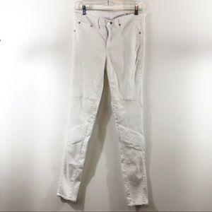 Rag & Bone Store Exclusive White Moto Jeans Sz 31